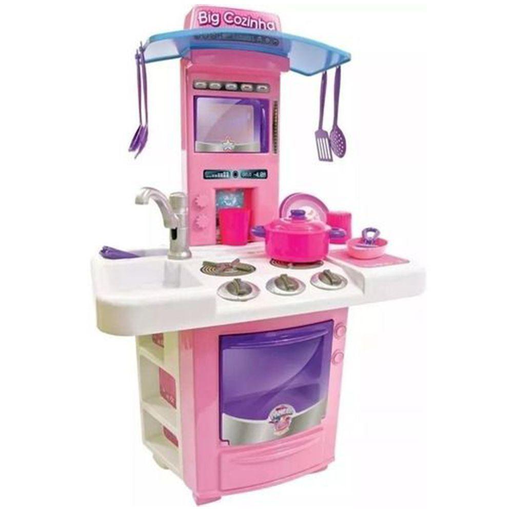 Cozinha Infantil Completa Menina Fogãozinho Criança