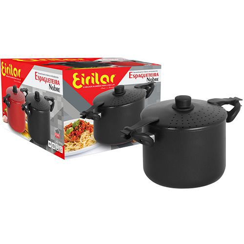 Espagueteira Alumínio 20cm Nobre Eiriflon Preta - Eirilar