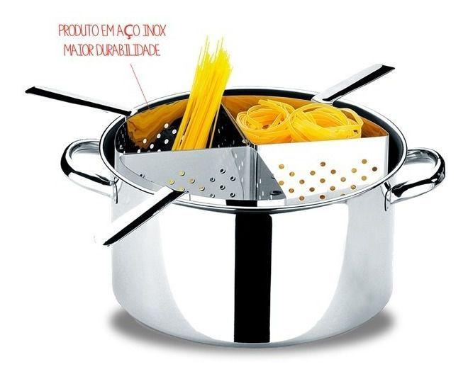 Espagueteira Inox 4 Divisões Savoy 10 L Suprema - Brinox