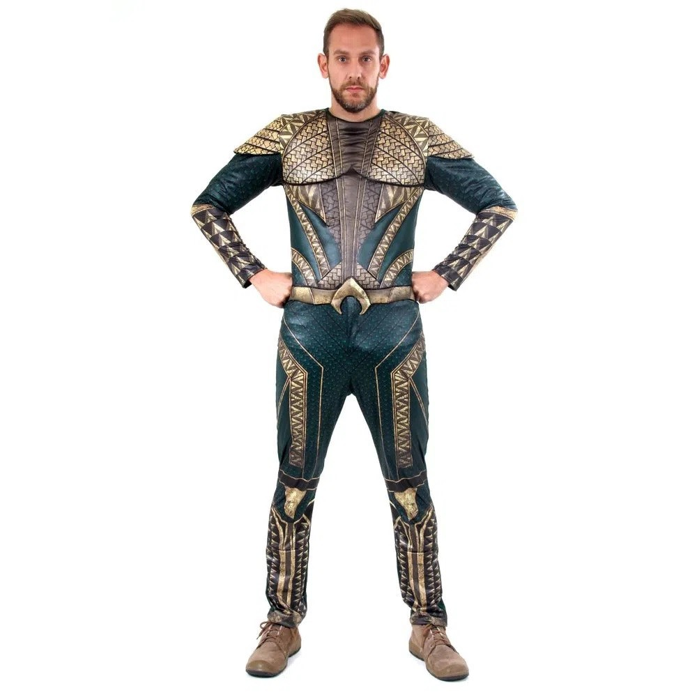 Fantasia Aquaman Original Adulto Luxo Liga Da Justiça P A Gg