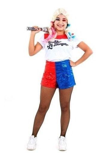 Fantasia Arlequina Harley Quinn Esquadrão Suicida Pop Adulto