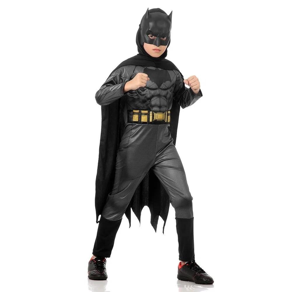 Fantasia Batman Infantil Longa Std - Batman Vs Superman