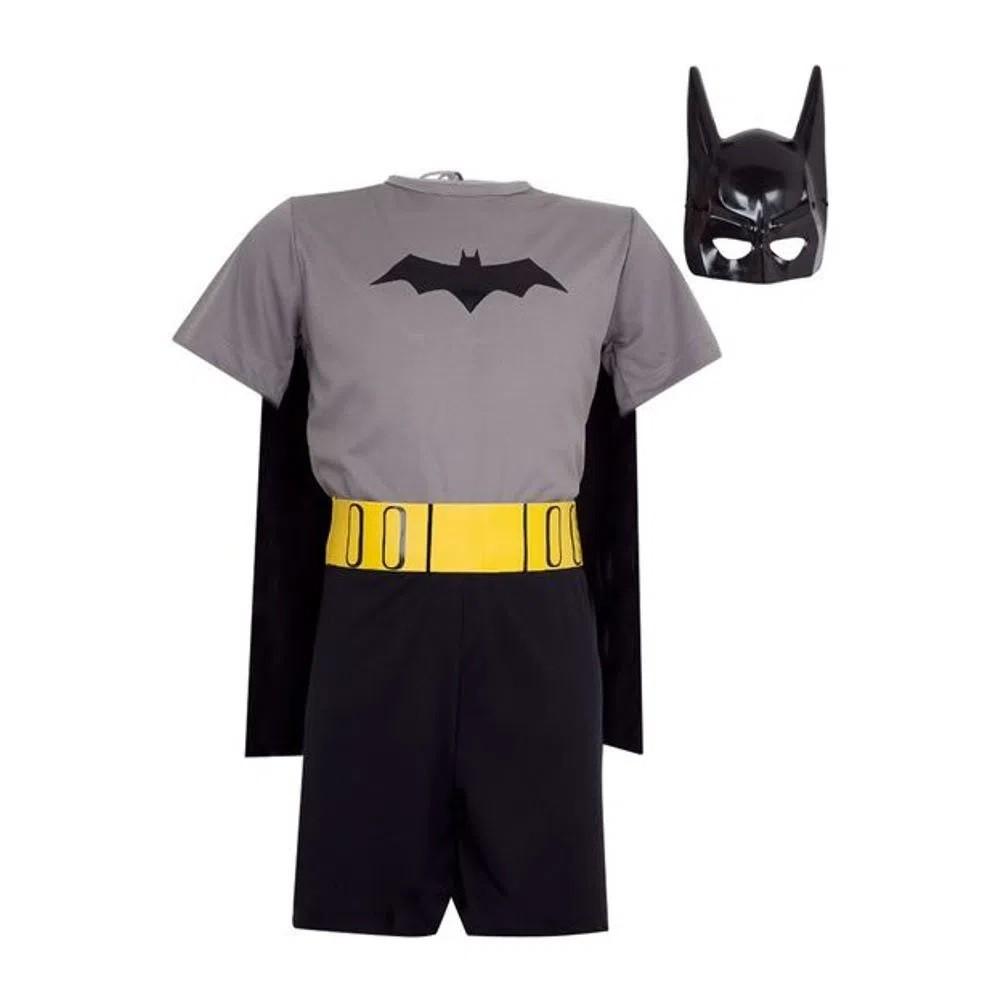 Fantasia Batman Infantil Pop Clássica C/ Máscara Morcego