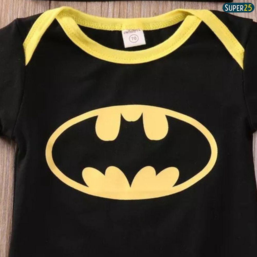 Fantasia Batman Para Bebê Body Manga Curta C/ Toca E Sapatos