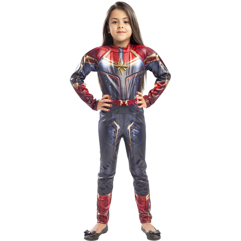 Fantasia Capitã Marvel Infantil C/ Musculatura