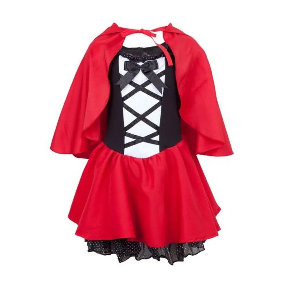 Fantasia Chapeuzinho Vermelho Infantil De Luxo Com Capuz