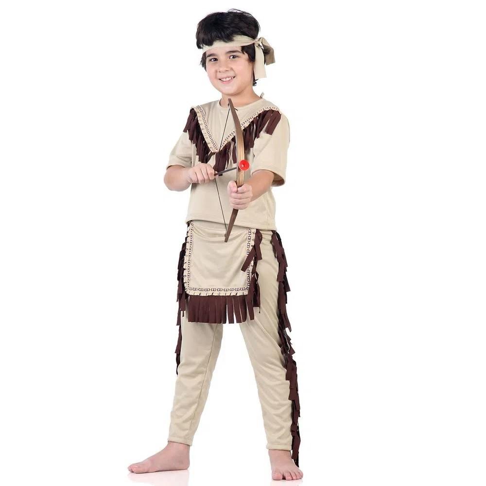 Fantasia De Índio Americano Infantil Sulamericana
