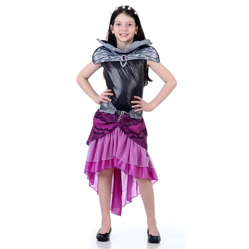 Fantasia Ever After High Raven Queen Original Infantil Luxo