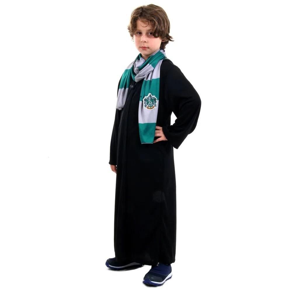 Fantasia Harry Potter Draco Malfoy Sonserina Infantil