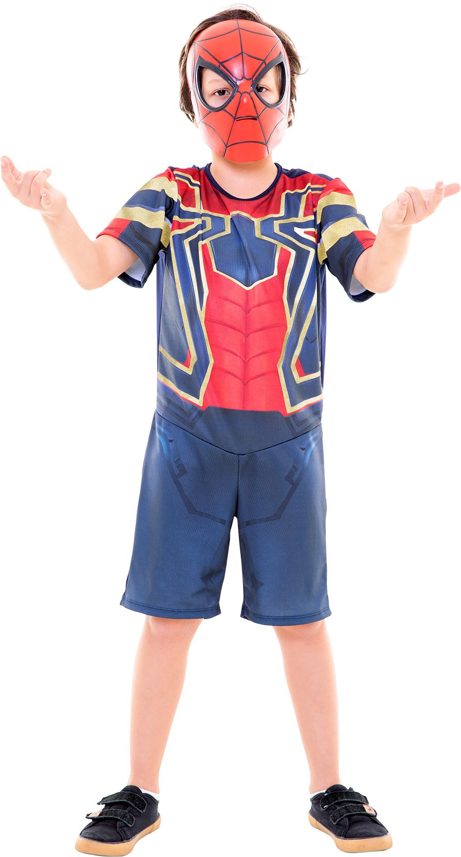 Fantasia Homem Aranha Curto Guerra Infinita Infantil