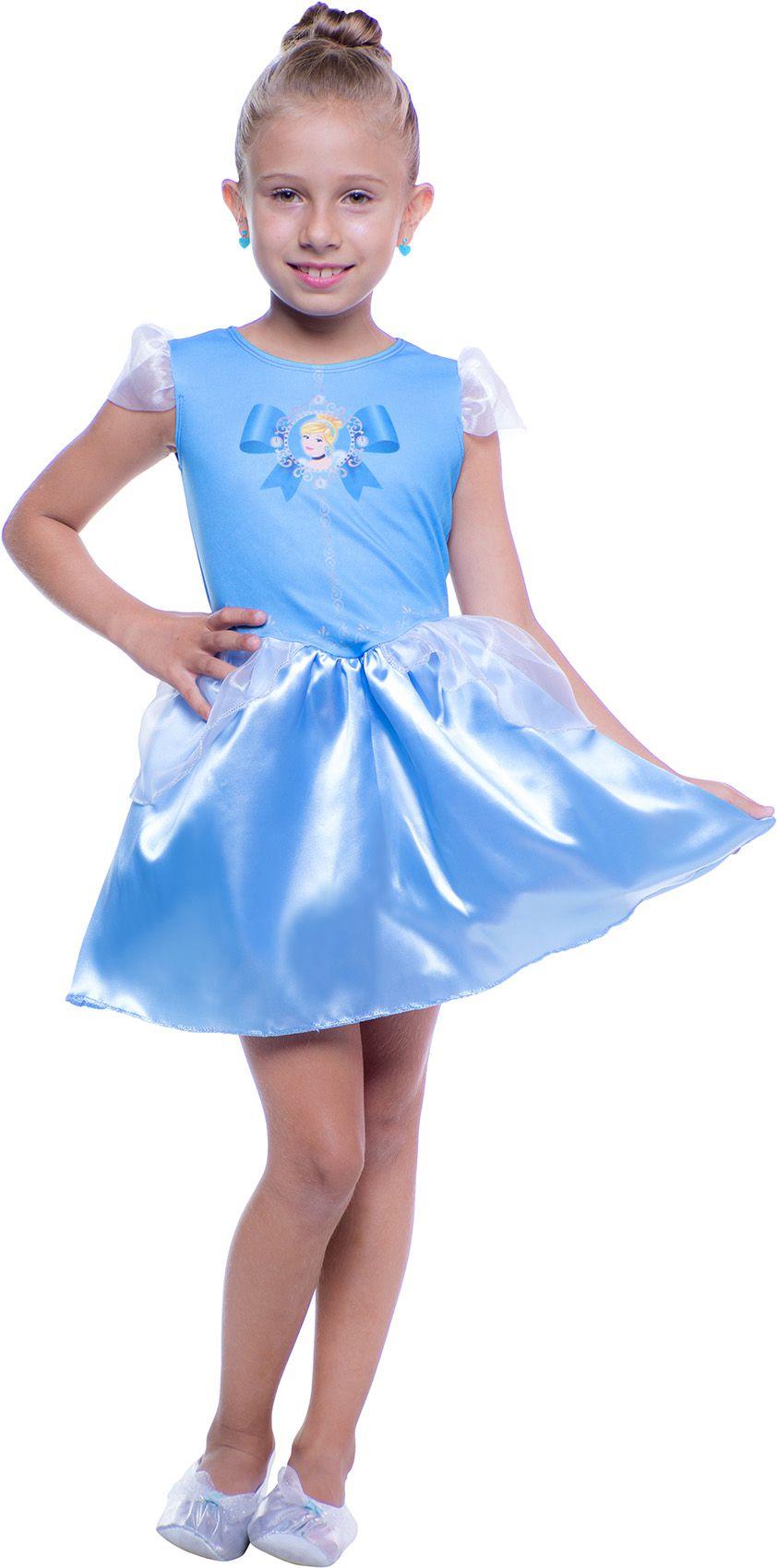 Fantasia Infantil Cinderela Pop Princesas Disney