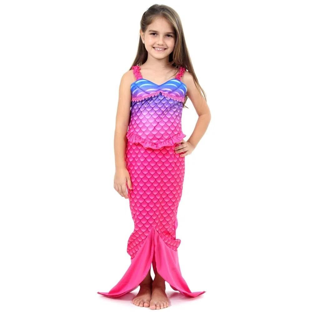 Fantasia Infantil Princesa Pequena Sereia Original Sulameric