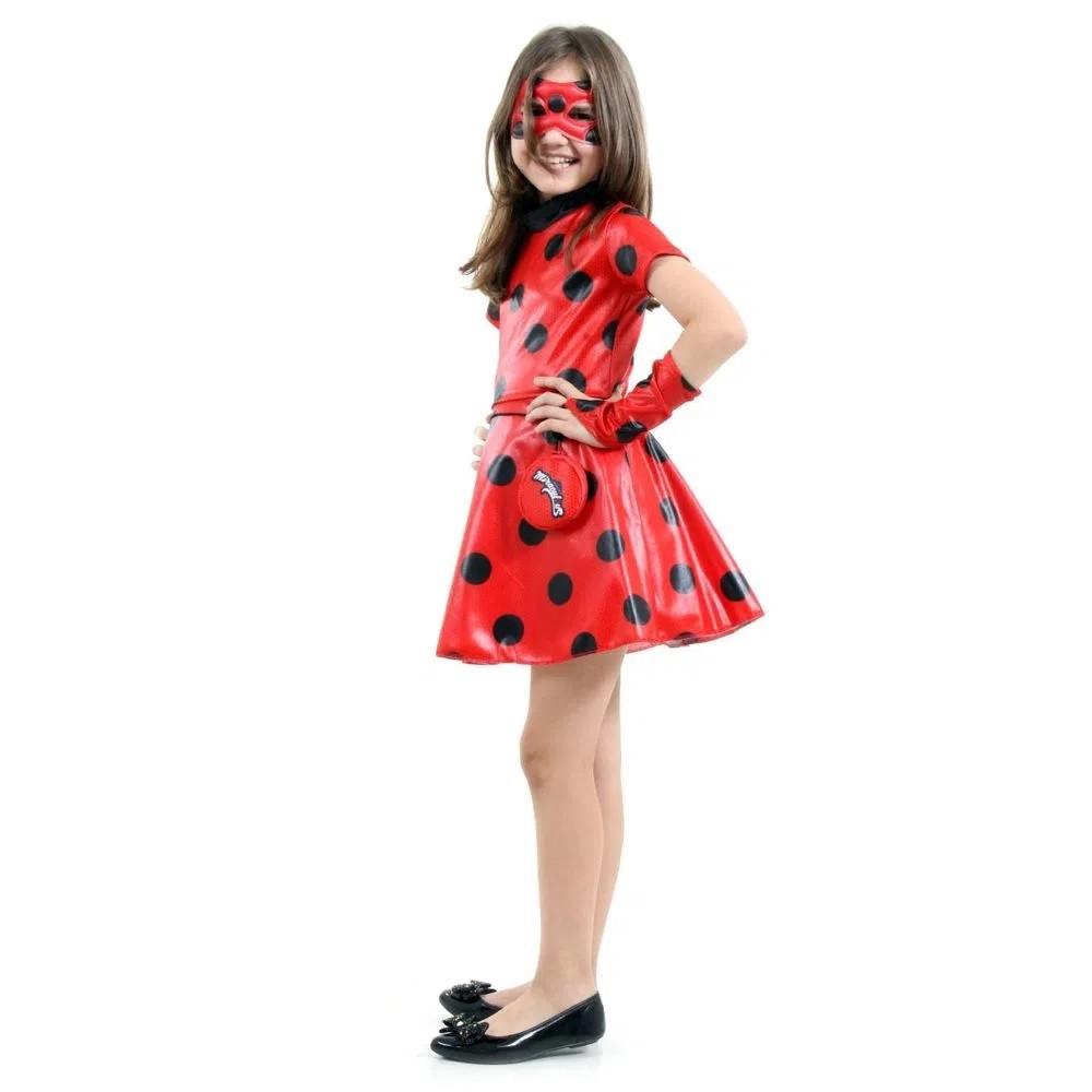 Fantasia Ladybug Miraculous Vestido Infantil Sulamericana