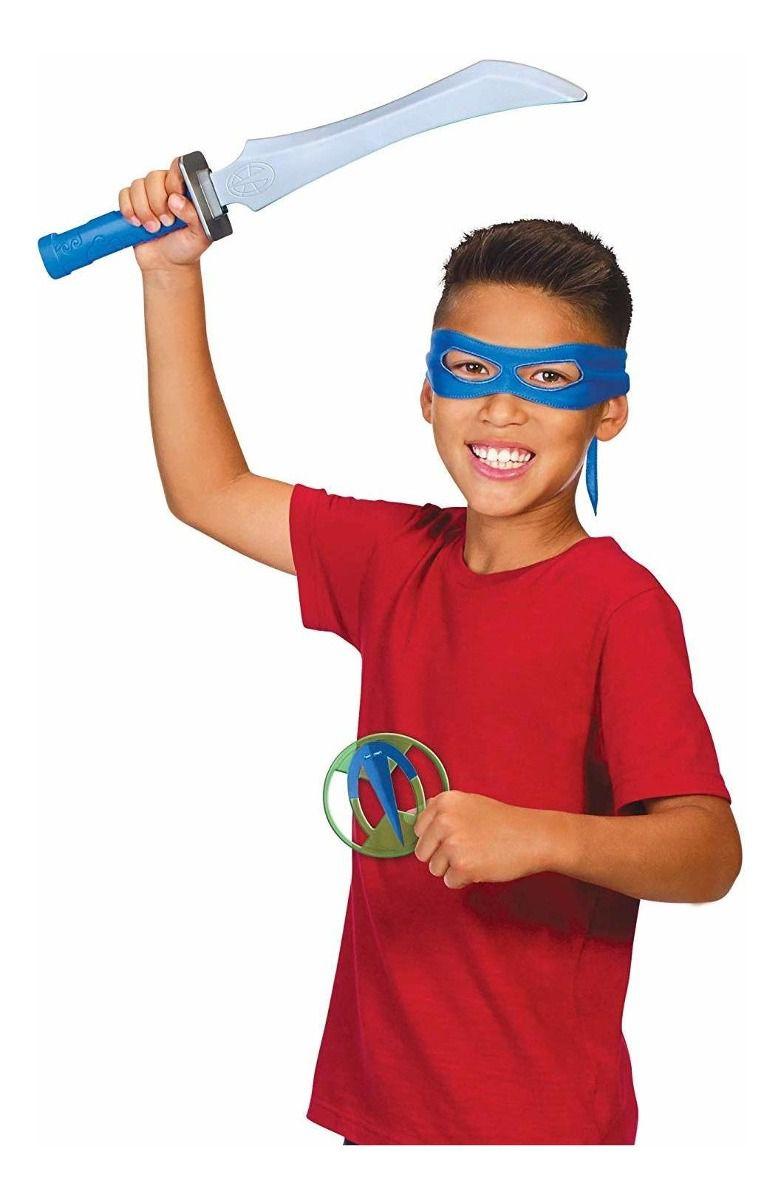Fantasia Máscara Tartarugas Ninjas Leonardo Sunny 2044
