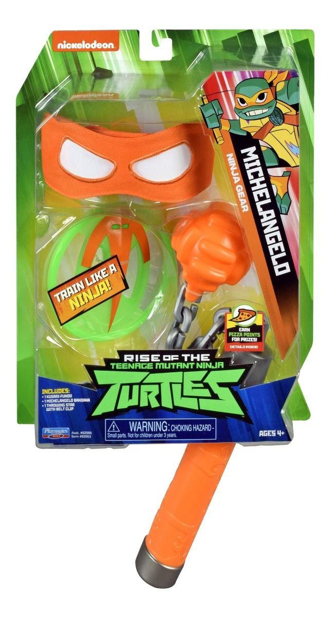 Fantasia Máscara Tartarugas Ninjas Michelangelo Equipamento 2044
