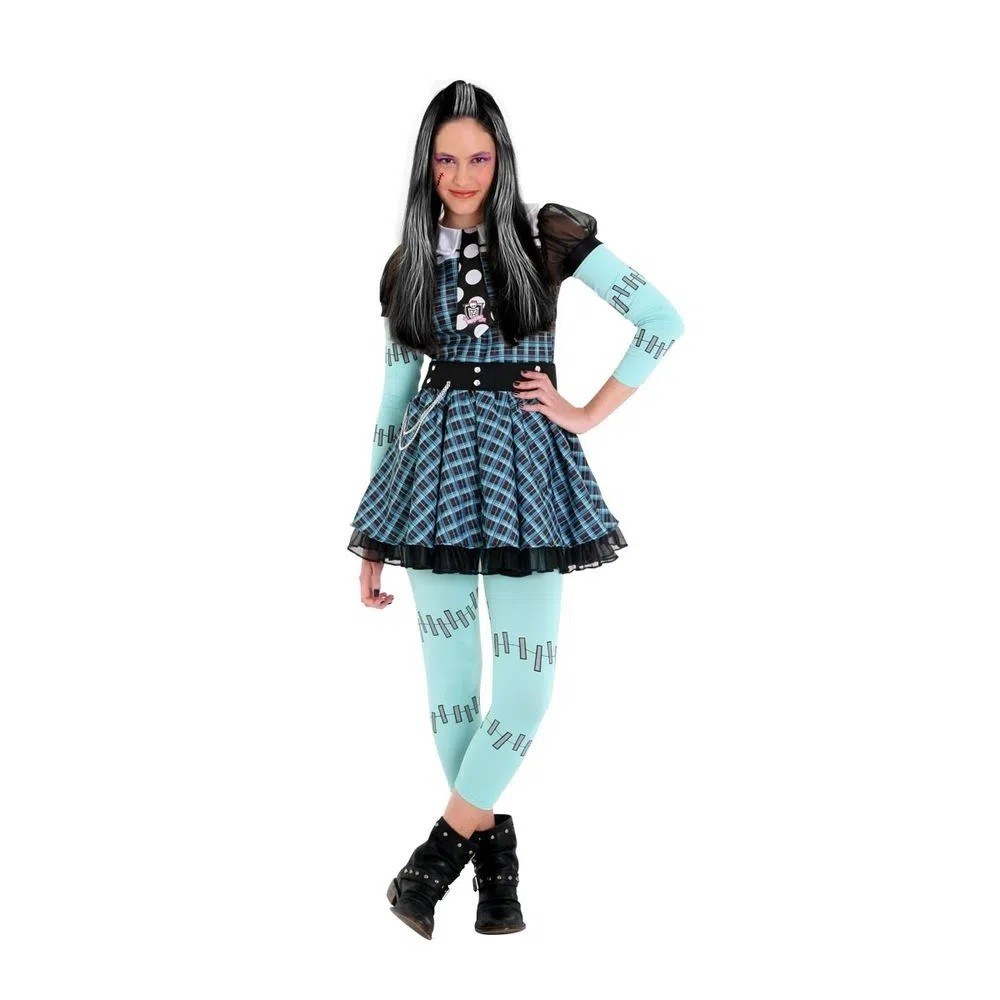 Fantasia Monster High Frankie Xadrez Luxo - Sulamericana