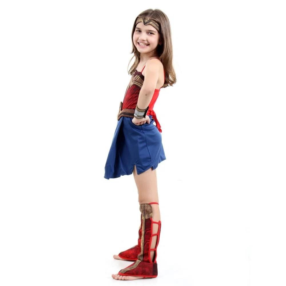 Fantasia Mulher Maravilha Infantil Luxo Lançamento Filme