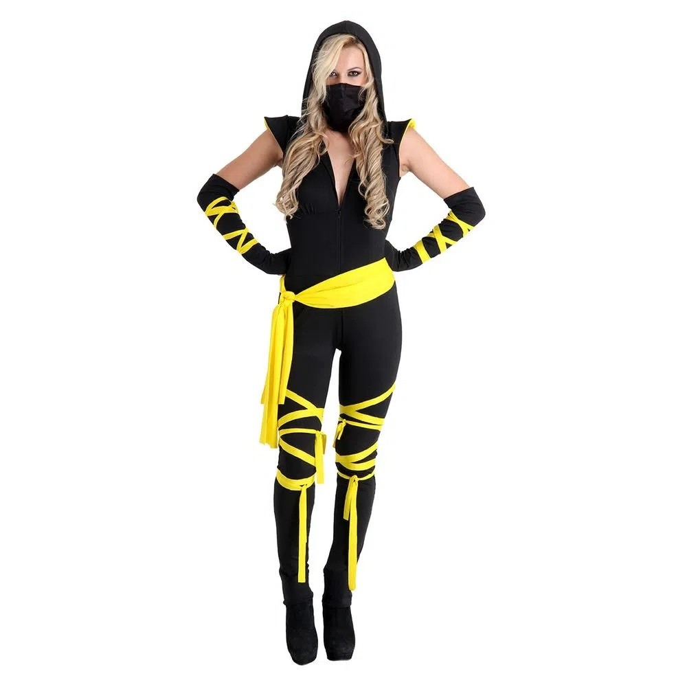 Fantasia Ninja Adulto Feminino Heat Girl Completa