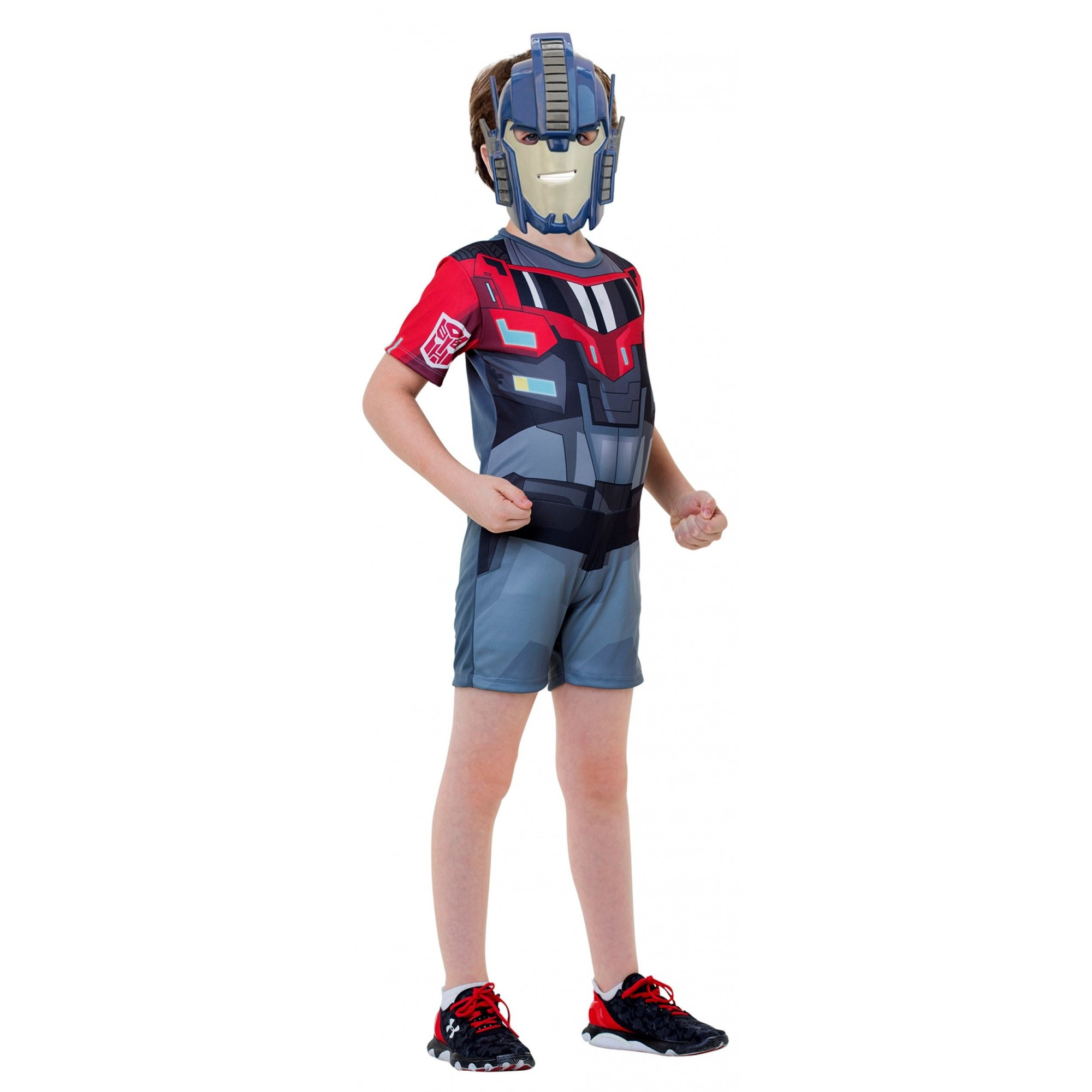 Fantasia Optimus Prime Infantil Curta Transformers Original