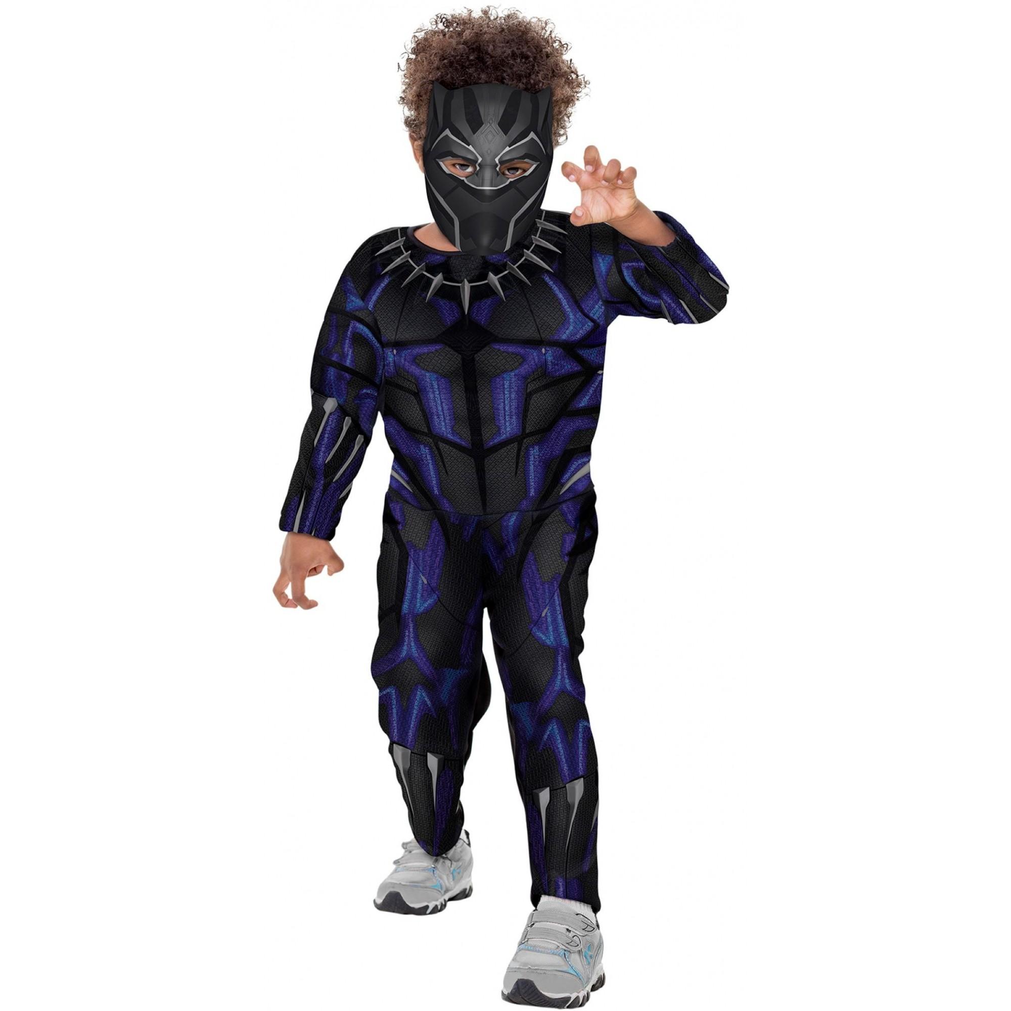 Fantasia Pantera Negra Infantil Luxo Máscara Guerra Infinita