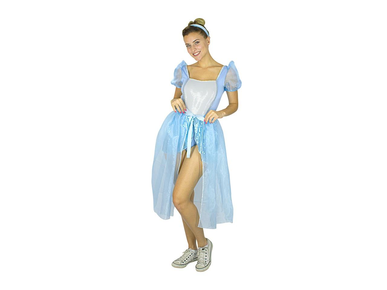 Fantasia Princesas Disney Ariel Branca De Neve Cinderela