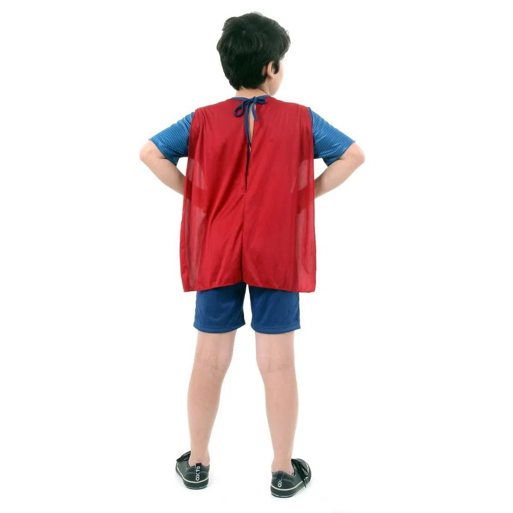 Fantasia Super Homem Pop C/ Musculos Batman X Supeman