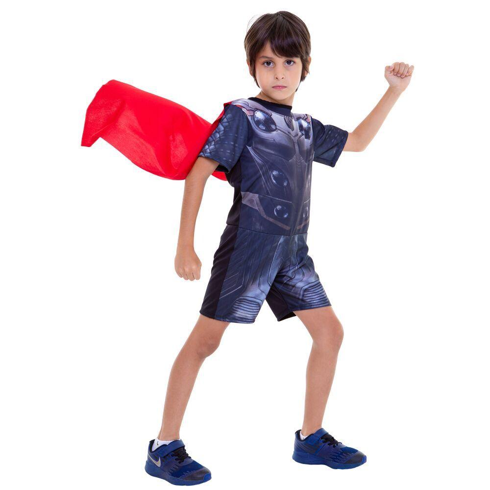 Fantasia Thor Infantil Curta Vingadores Ultimato Endgame