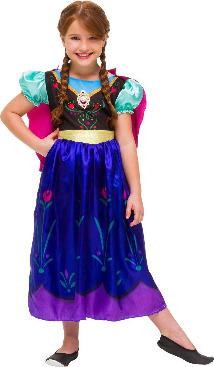 Fantasia Vestido Frozen Anna Premium - Original Disney