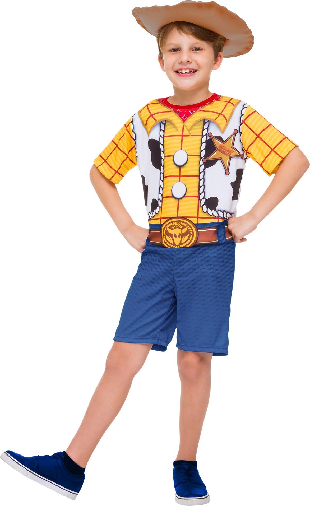 Fantasia Woody Curta Cowboy Toy Story 3 Com Chapeu Infantil
