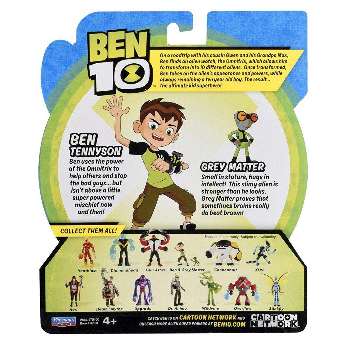 Figuras De Ação Ben 10 Ben & Massa Cinzenta Original Sunny