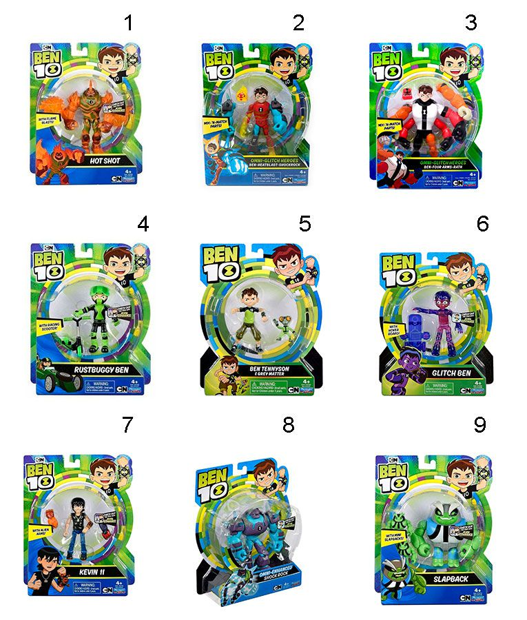 Figuras De Ação Ben 10 Playmates Toys Sunny 1750