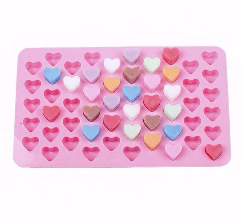 Forma Molde De Silicone Mini Coração Chocolate Gelo Sabonete