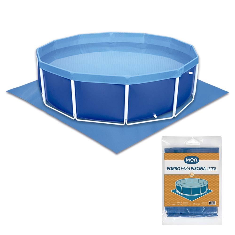 Forro Para Piscina Mor 1455 4500 Litros Circular Azul