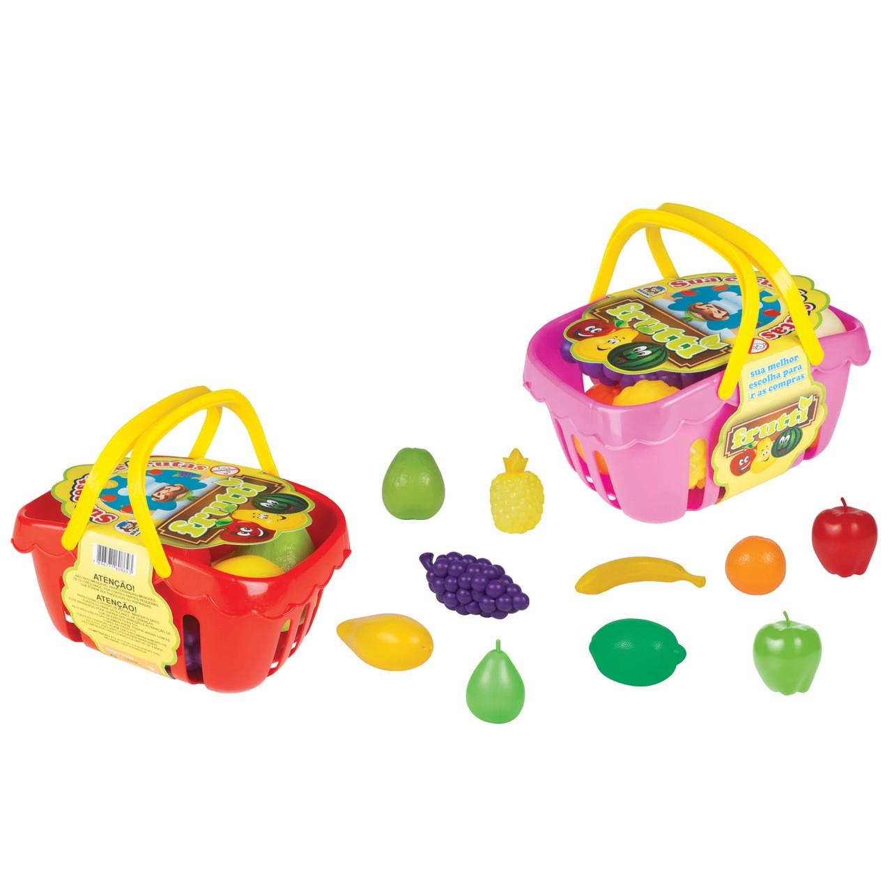 Frutinhas De Brinquedo Cesta De Fruta Legumes Braskit