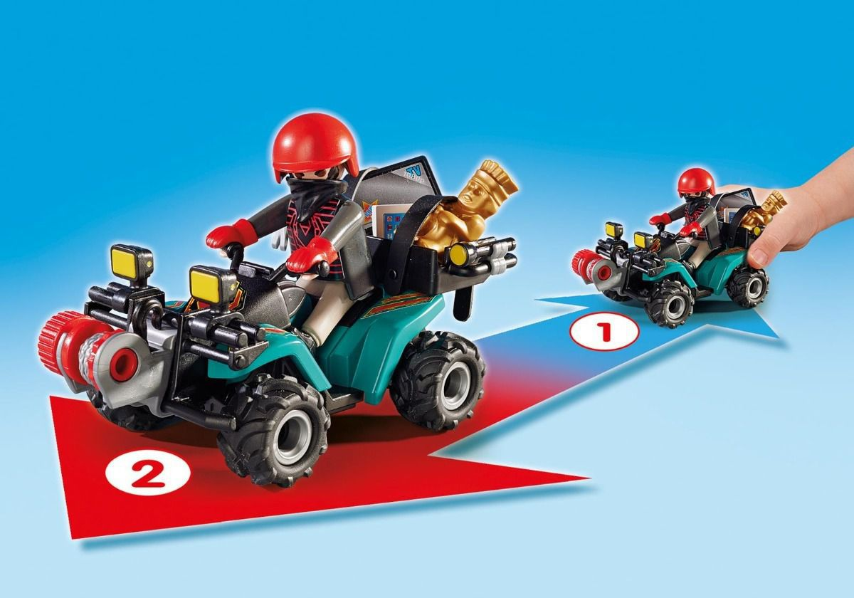 Fugitivo Com Quadriciclo Polícia City Action Playmobil 6879