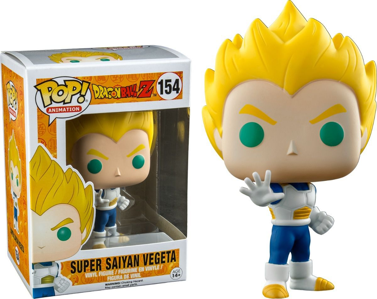 Funko Pop Dragon Ball Z Super Saiyan Vegeta Exclusivo #154