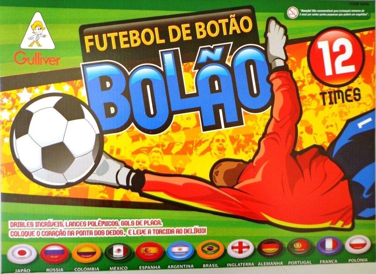 FUTEBOL DE BOTÃO BOLÃO GULLIVER 12 SELEÇÕES AMÉRICA EUROPA TIMES