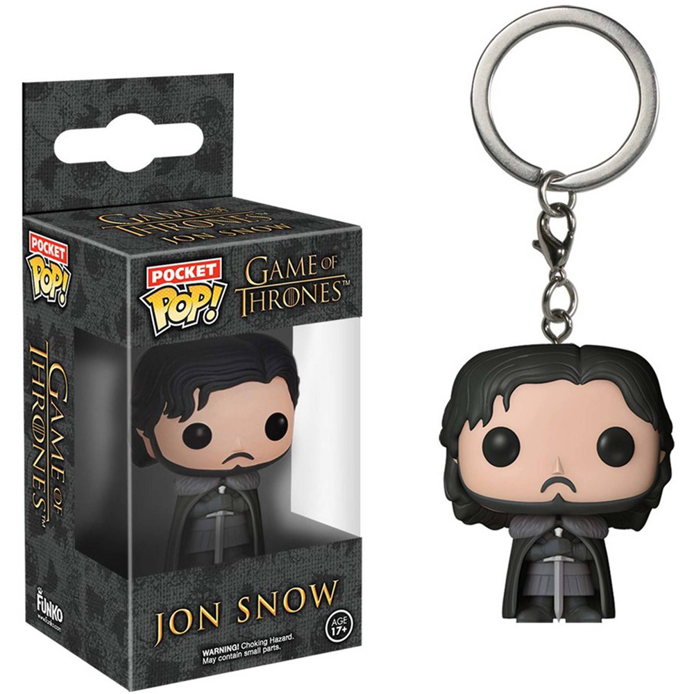 Game Of Thrones Chaveiro Keychain Jon Snow Mini Pop Funko