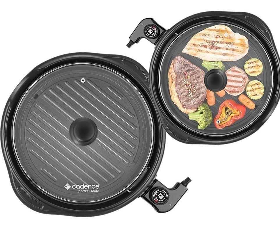 Grill Panela Elétrica Cadence Perfect Taste Redondo 1250w