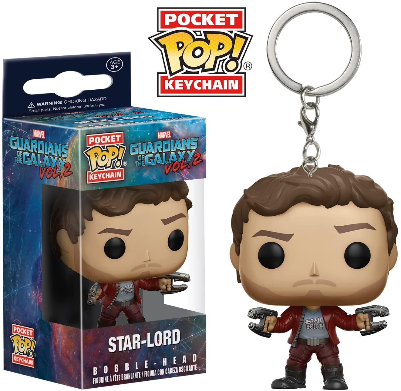 Guardiões Da Galáxia Pocket Pop! Keychain Star Lord Funko