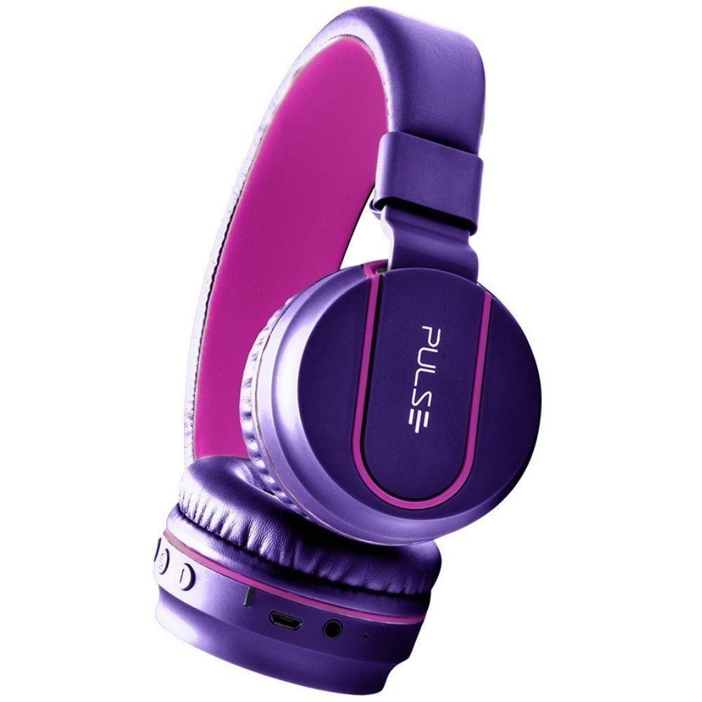 Headphone Bluetooth Pulse Fun Series Rosa E Roxo Ph217