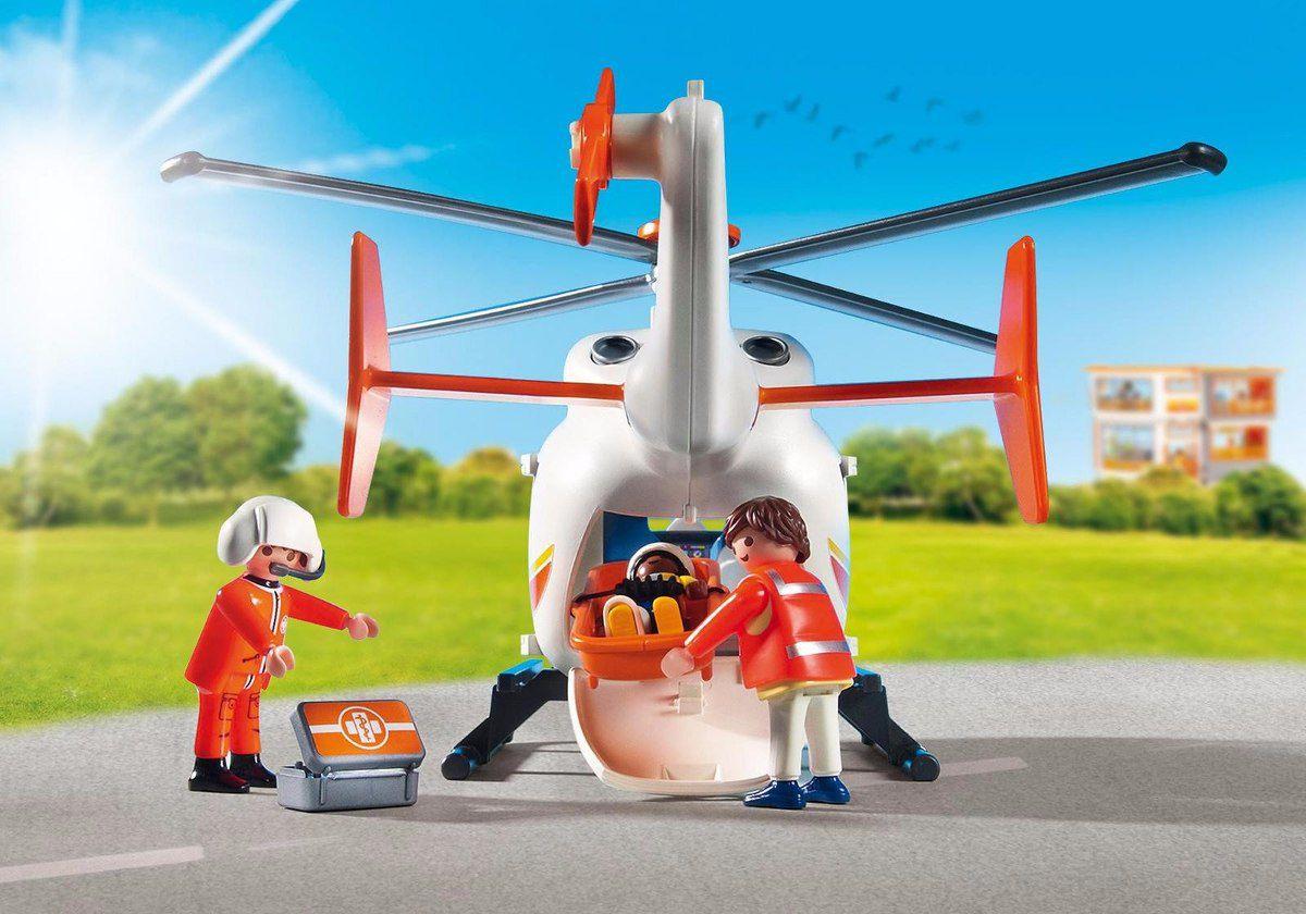 Helicóptero De Emergência Médica 29p Hospital Playmobil 6686