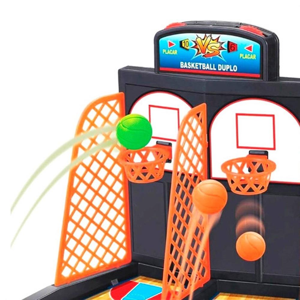Jogo Basquete Brinquedo Basketball Duplo Jogo Com Placar