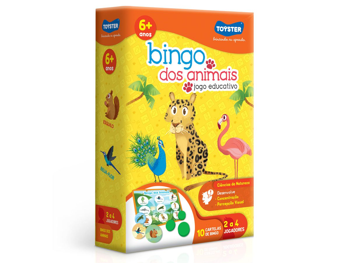 Jogo Bingo Dos Animais - Toyster