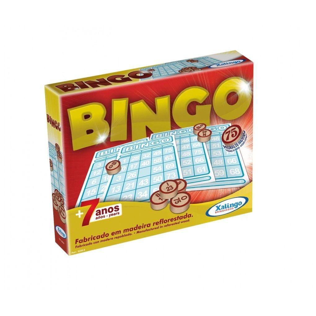 Jogo Bingo Pedras De Madeira Cartelas 52909 Xalingo