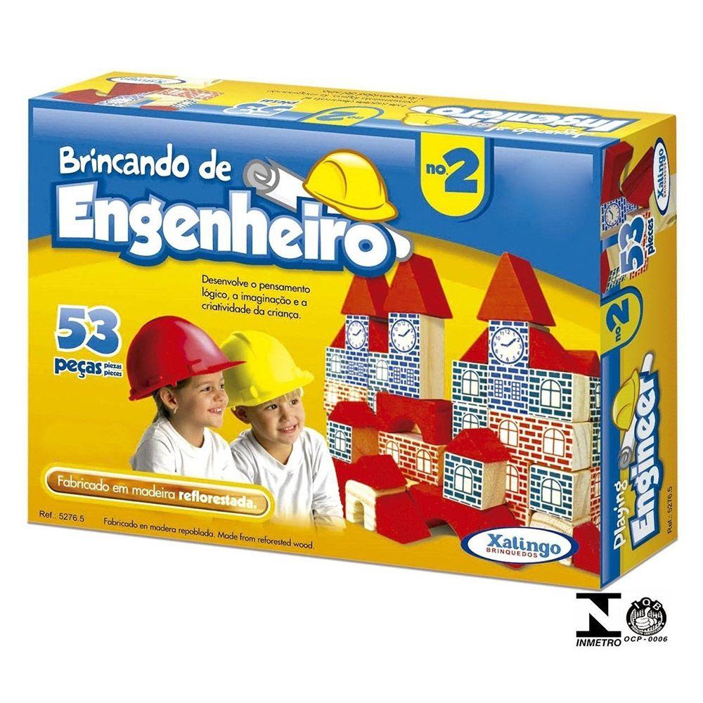 Jogo Brincando De Engenheiro Ii 53 Peças Xalingo 52765
