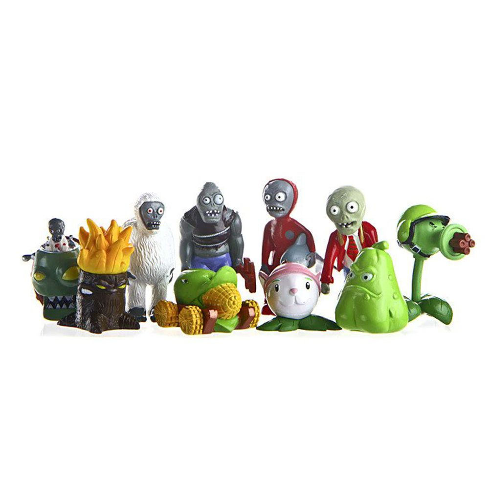 Kit 10 Bonecos Miniaturas Plants Vs Zombies Ervilha