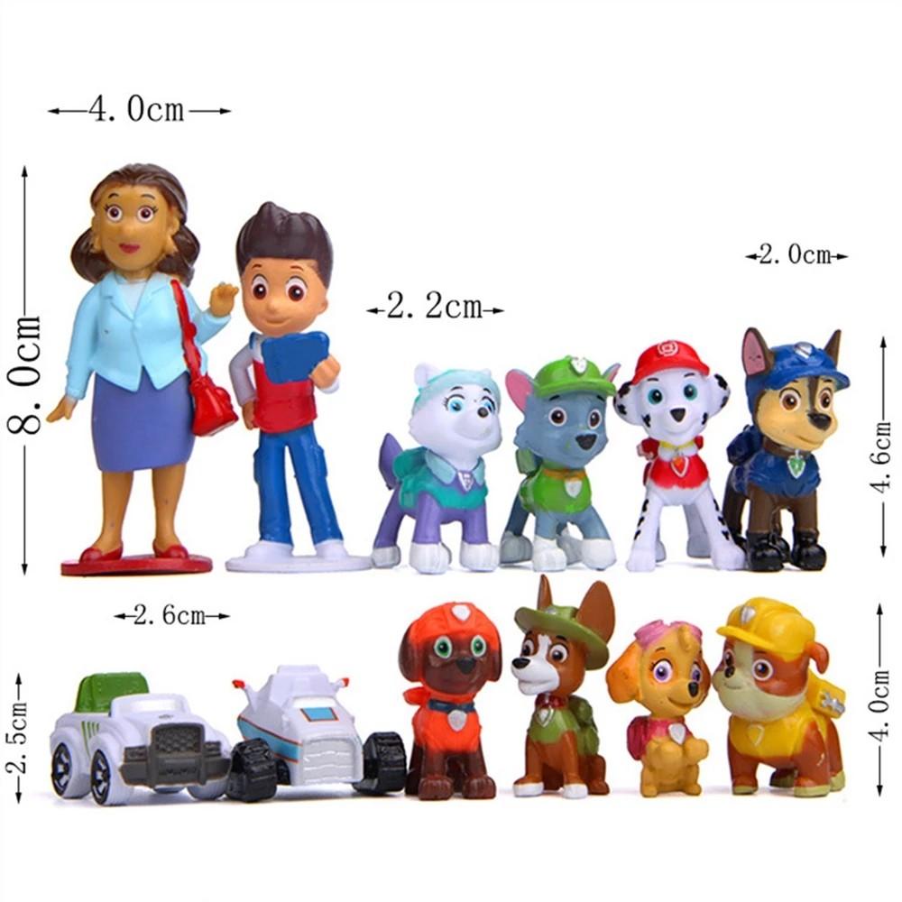 Kit 12 Personagens Patrulha Canina Miniaturas