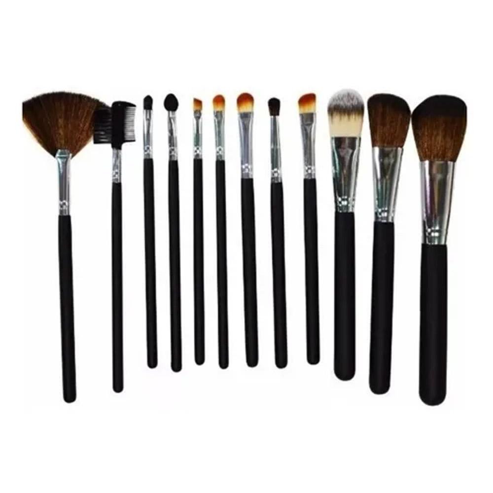Kit 12 Pincéis Profissionais Para Maquiagem Kp1-2d Macrilan