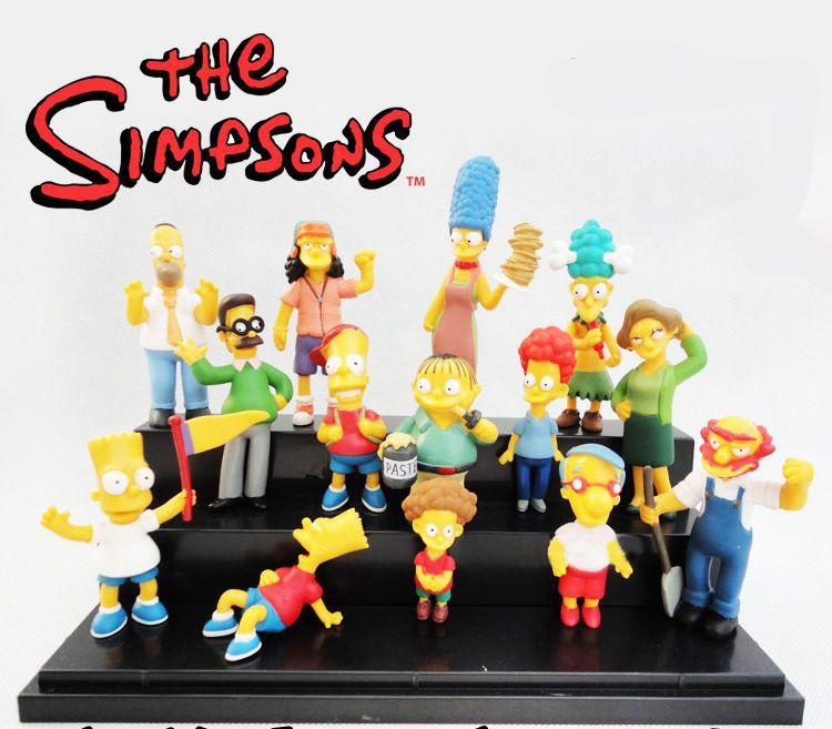 Kit 14 Bonecos Os Simpsons - Homer Bart Margie Milhouse